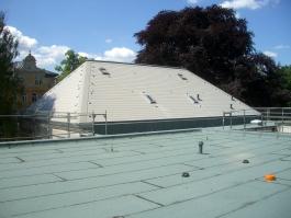Meisterdach online Eindeckung Steildach mit Dachplatten in grau