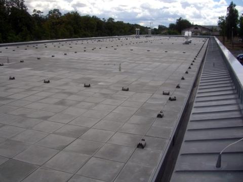 Meisterdach online Flachdach komplett mit Auflast aus Betonplatten