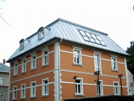 Meisterdach online Stehfalzdeckung in Titanzink